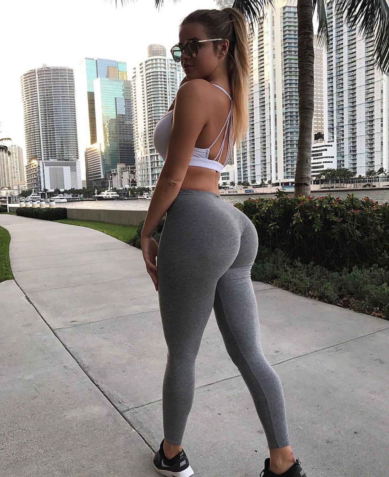 Sexy ass in white