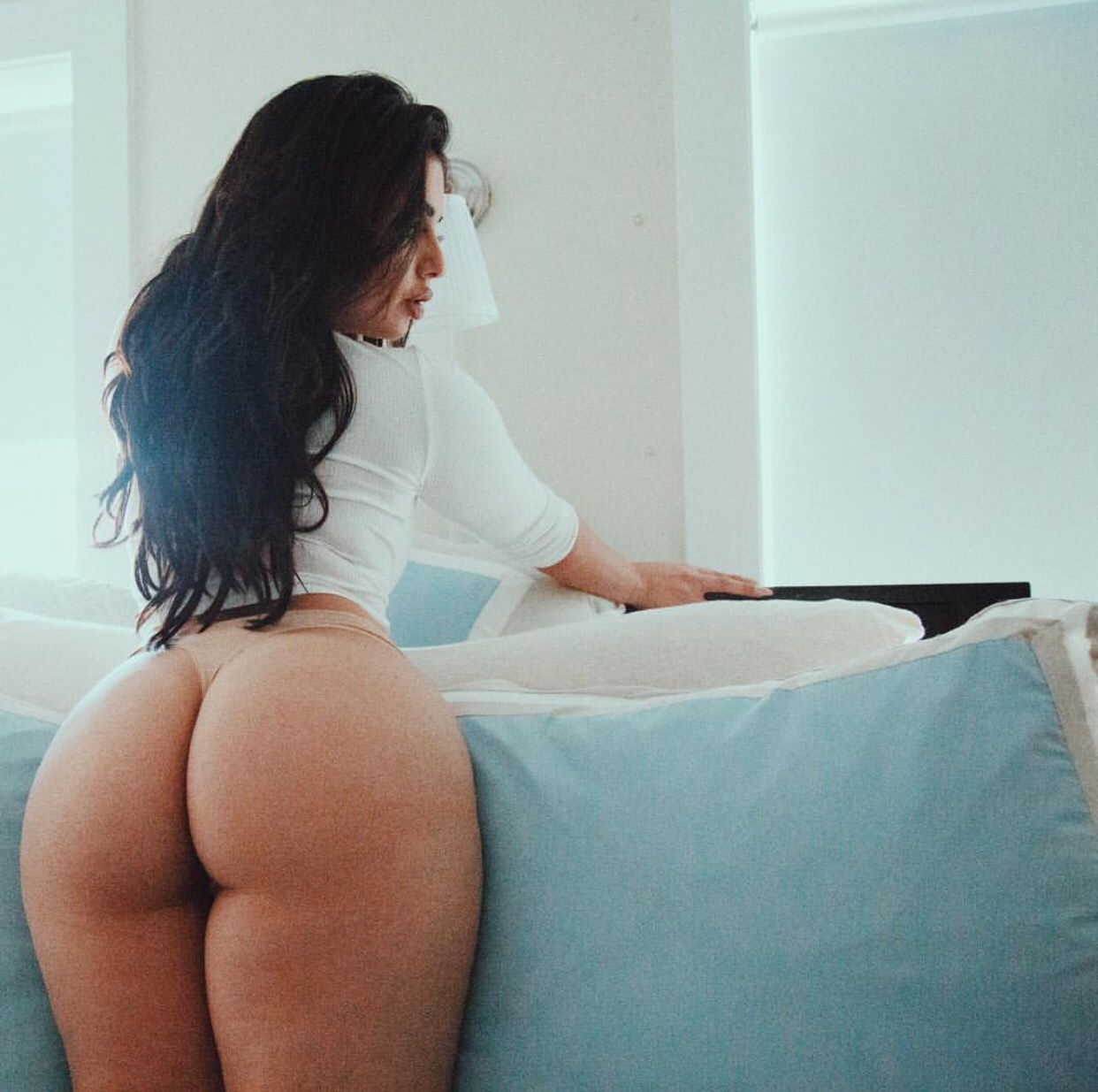 Perfect Latino Round Assomg Body In Skirt And Tiny Thong